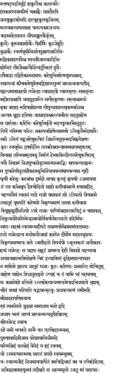 Gajendra Moksha: Gajendra's Prayers of Surrender to Lord Vishnu