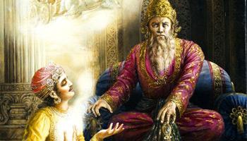roi aveugle, Dhritarastra_Mahabharata