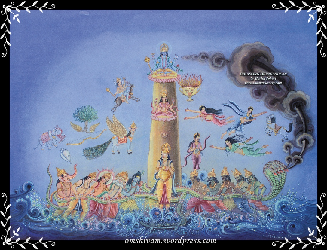 samudra manthan coloring pages - photo#22