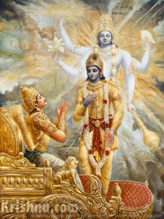 Krishna Reveals His Two-Armed Form To Arjuna